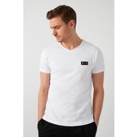 Buratti % 100 Pamuklu V Yaka T Shirt Erkek T SHİRT 5902076