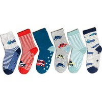 Aktaş Socks 6'lı Altı Kaydırmaz Dikişsiz Çocuk Çorap