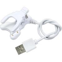 Wiky 3 Plus Mandallı Akıllı Saat Şarj Kablosu Beyaz