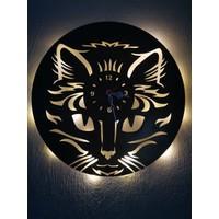 Feel Me LED Işıklı Kedi Duvar Saati Animals