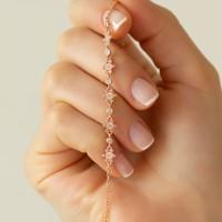 Ag Gümüş Kadın Kar Tanesi Rose Gümüş Bileklik