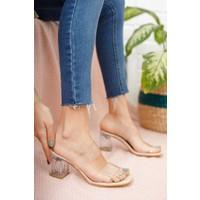 Moda Değirmeni Kadın Şeffaf Topuklu Ayakkabı MD1050-119-0001