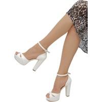 Kriste Bell Beyaz Deri Platformlu Ayakkabı