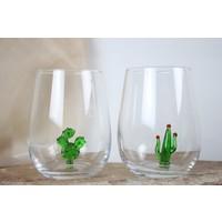 Adamodart Kaktüs Figürlü Su Bardağı 2'li Set