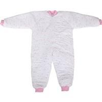 Özlem Bebe 7-12 Yaş Arası Pembe Yıldızlı Ara Dolgu Uyku Tulumu