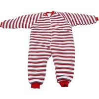 Özlem Bebe 13-16 Yaş Arası Kırmızı Çizgili Elyaflı Uyku Tulumu
