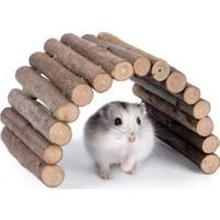Alyones Doğal Ahşap Hamster Fare Sıçan Kemirgenler Oyuncağı