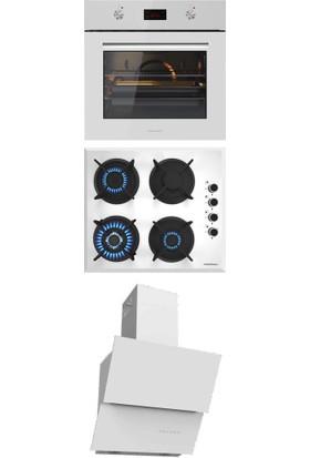 Termikel Ankastre Set (Bo O6455 W + Bh P6195 W Ng + Argemon WW60)