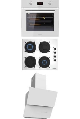 Termikel Ankastre Set (Bo O6445 W + Bh P6145 W Ng + Argemon WW60)
