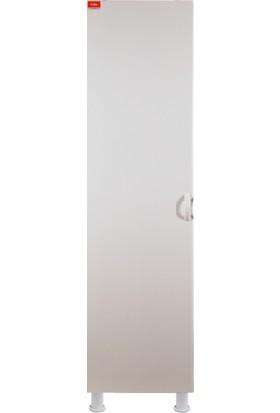 Fulke Eko 30 Beyaz Plastik Dolap,bahçe Dolabı,teras Dolabı, Balkon Dolabı,banyo Dolabı