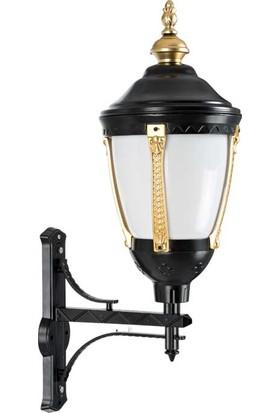 Crystal Palace Bahçe Aydınlatması Bahçe Lambası - Bahçe Apliği -Bahçe Aplik Siyah Gold Aplik Altın Rengi Aplik 77 cm
