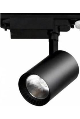 Hero 30W LED Ray Spot 3lü Set -Siyah Kasa- Günışığı 3000K - Günışığı