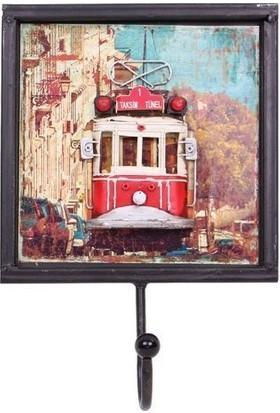 MNK Dekoratif Metal Askı Tramvay Dekorlu
