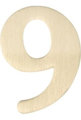 hobi24 Ahşap Rakam 3 x 4 cm - 9