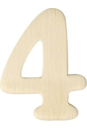 hobi24 Ahşap Rakam 3 x 4 cm - 4