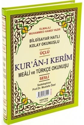 Haktan Yayınları Kuran I Kerim Ebat Mealli ve Türkçe Okunuşlu 23X34