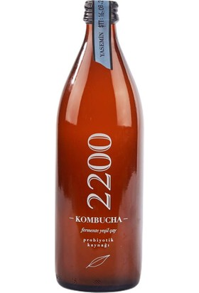Kombucha 2200 Fermente Yeşil Çay Yasemin 500 ml