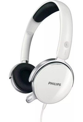 Philips SHM7110U/10 Mikrofonlu Kulak Üstü Kulaklık Beyaz