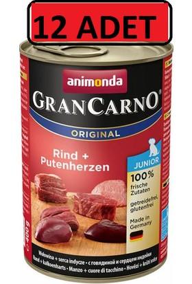 Animonda Gran Carno Sığır Etli ve Hindi Yürekli Yavru Köpek Konservesi 400 gr Pupy 12 Adet