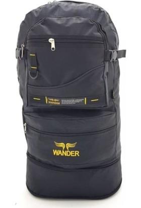 Wander Körüklü Dağcı Siyah Sırt Çantası 65 Litre Kapasiteli - Kamp Dağcı Çantası