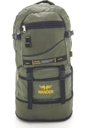 Wander Körüklü Dağcı Yeşil Sırt Çantası 65 Litre Kapasiteli Kamp Dağcı Çantası