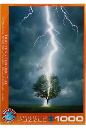 1000 Parça Puzzle : Lightning Striking Tree