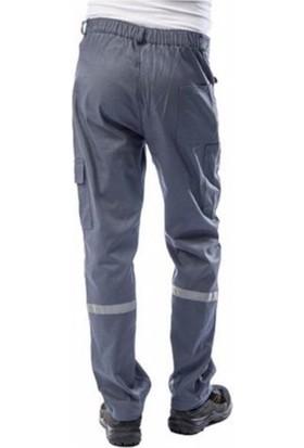 SSW-CAN Komando Cepli Iş Pantolon Reflektörlü Gri - Lacivert, Yazlık - Kışlık 58 - 7-7 Kışlık Gabardin - Gri