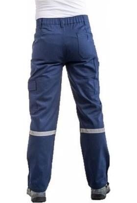 SSW-CAN Komando Cepli Iş Pantolon Reflektörlü Gri - Lacivert, Yazlık - Kışlık 56 - 7-7 Kışlık Gabardin - Lacivert