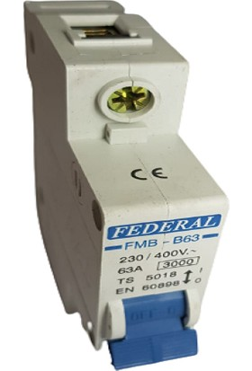 Federal 63A B/3ka Otomatik Sigorta Federal
