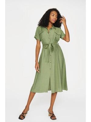 Batik Bürümcük Elbise-36