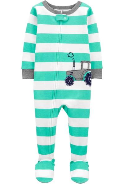 Carter's Carters Erkek Bebek Tekli Pijama Tulum 1K460110