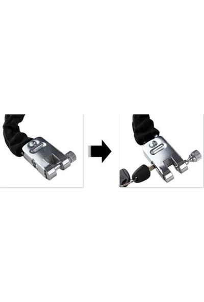Zongli Motosiklet Zincir Kilit Çelik Başlı Bez Korumalı ( 10 x 1200 mm )