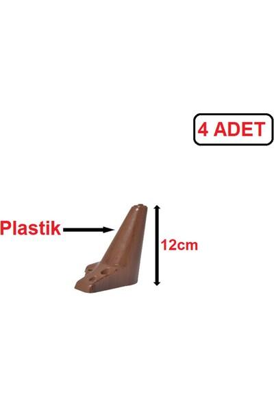 Zirve Plastik Ayak - Baza Ayağı Koltuk-Kanepe Ayağı Puf-Tv Ünitesi Ayağı 12 cm Ceviz Renk 4 Adet