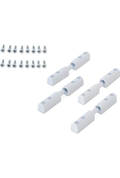 Sineklik Menteşesi 4'lü Paket - Beyaz