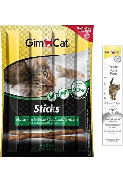 Gim Cat Gimcat Sticks Kuzu Tavuk Kedi Ödül 4'lü 20 gr + 50 gr Taurine Paste