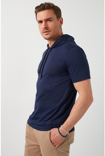 Buratti Pamuklu Kapüşonlu Slim Fit T Shirt Erkek T Shirt 5412021