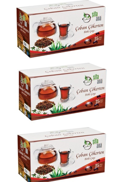 Şifa Ana Çakşır Kökü Bitki Çayı (3 Kutu 75 Içim)
