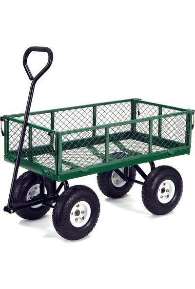 Bahçem Metal Yük Taşıma Arabası Havalı 4 Tekerlekli