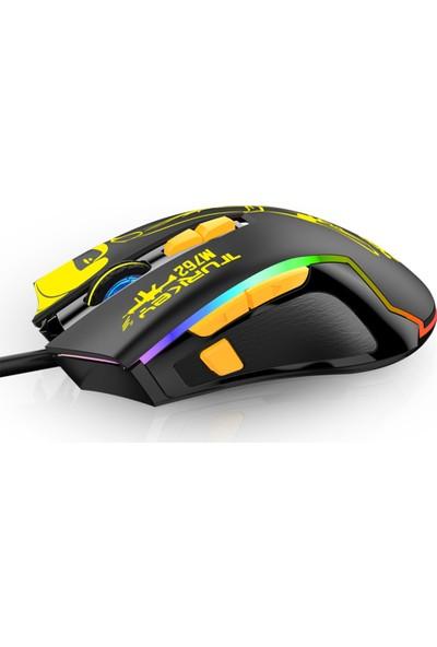 Katsuta M-762 4800DPI Rgb Gaming Oyuncu Mouse - Siyah