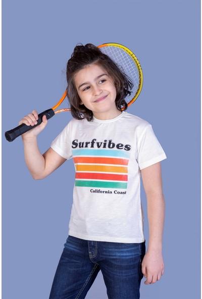 Toontoy Erkek Çocuk Surfvibes Baskılı Tişört