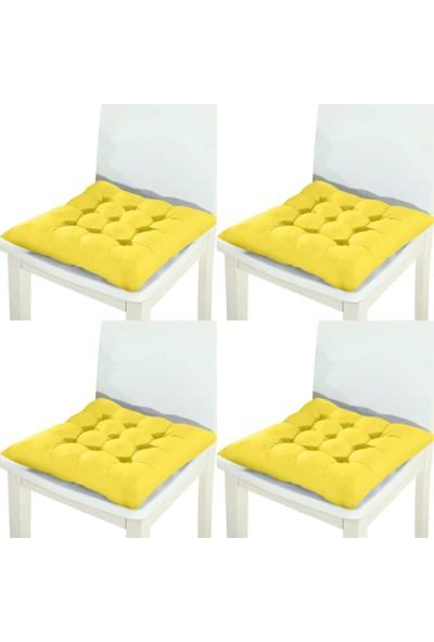 Laris Duck Keten Kumaş 40 x 40 cm 4'lü Sandalye Minderi Renk Seçenekleri