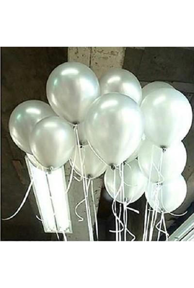 Doğum Günü Marketim 30 Adet Sarı, Gümüş Gri Metalik Balon ve Balon Zinciri 5 Metre