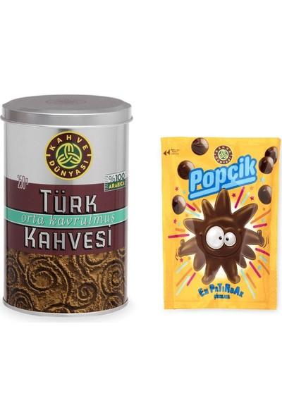 Kahve Dünyası 250 gr Türk Kahvesi ve Popçik Paketi