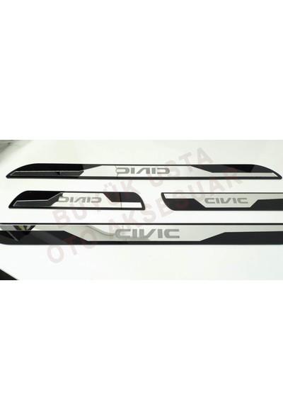 Great Master Honda Civic Fd6 2007-2012 Pleksi Kapı Eşiği Basamak Çıtası Takımı Fd 6 (4 Parça)