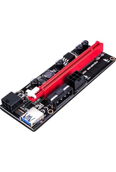 Oem Riser V009S Plus Altın Pcı-Express X1 X16 Mining