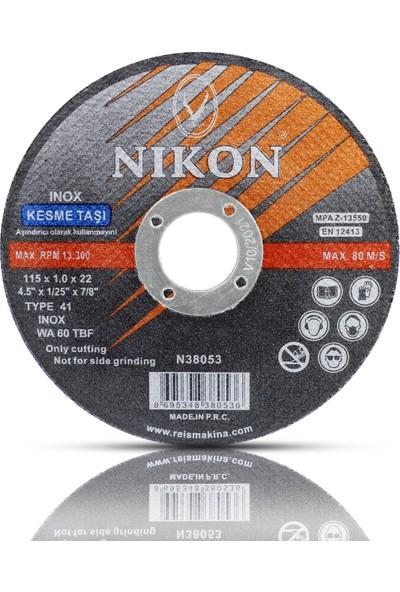 Nikon 5 Adet Inox Metal Kesici Taş Disk 115 x 1 x 22.23 mm