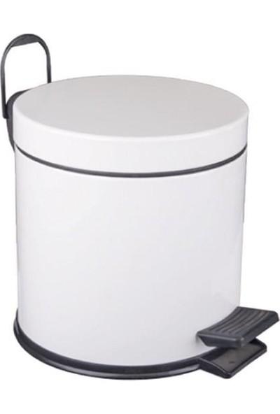 Maxi 5 Lt. Standart Çöp Kovası Boyalı Beyaz Maxiflow