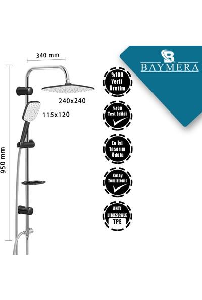 Baymera Harmony Black Tepe Duş Seti VLTM-5540
