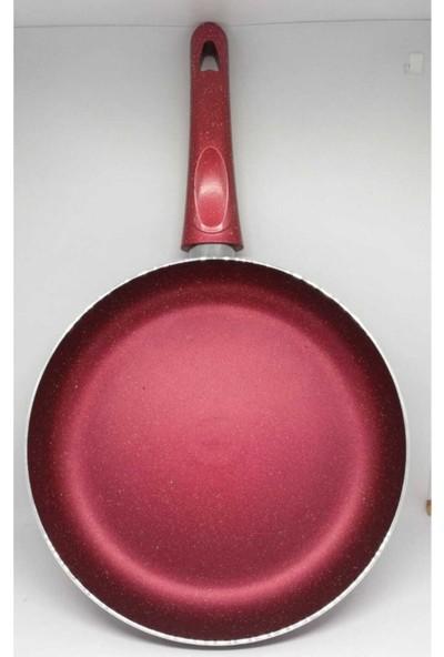 Efsane Kırmızı Granit Tava 32 cm