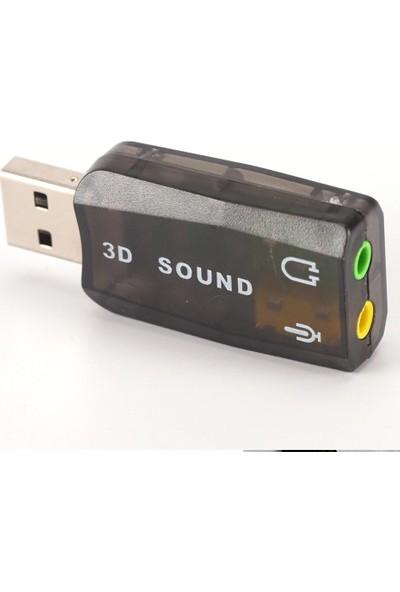 Alfais 4504 5+1 Harici USB Ses Kartı 3.5mm Kulaklık Mikrofon Çevirici Dönüştürücü